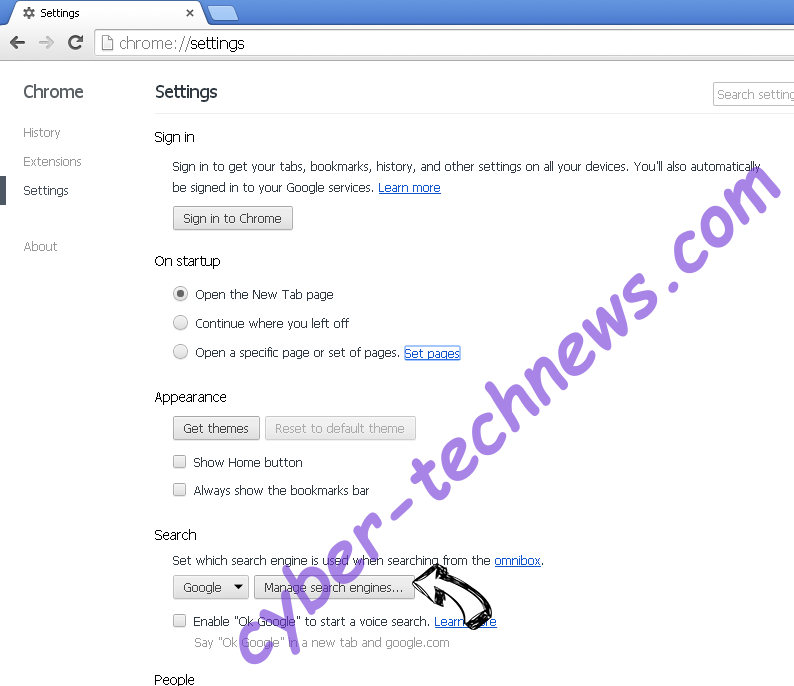 Search.searchidt.com Chrome extensions disable