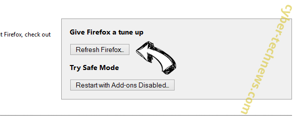 Search.dssearchhelper.com Firefox reset