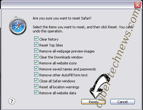 Search.dssearchhelper.com Safari reset