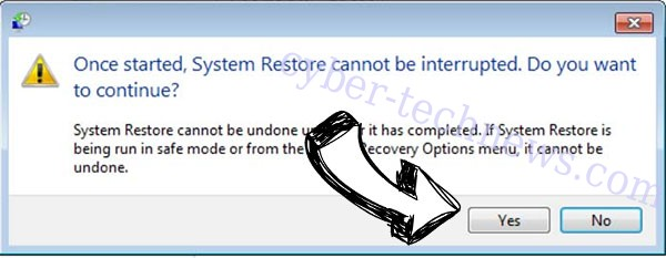 Tellyouthepass File Virus removal - restore message
