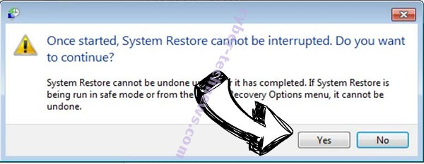Cyberresearcher Ransomware removal - restore message