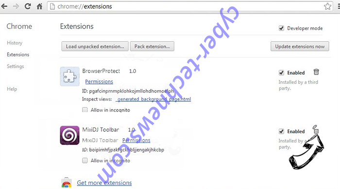Daily Mail Tab Virus Chrome extensions remove