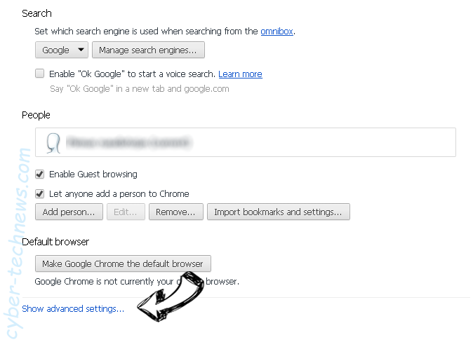 Search.searchjsfd.com Chrome settings more