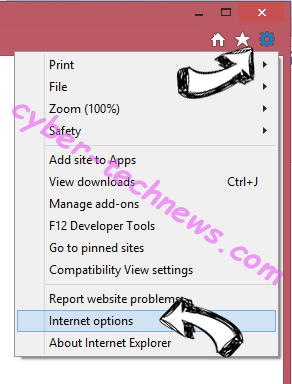Daily Mail Tab Virus IE options