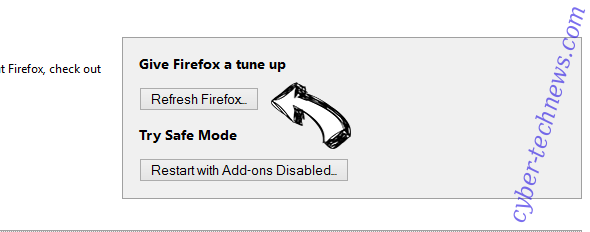 Search.mysuperappbox.com Firefox reset