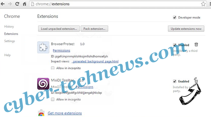 Search.openpdf.pro Chrome extensions remove