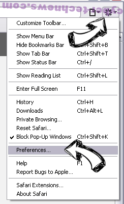 Search.openpdf.pro Safari menu