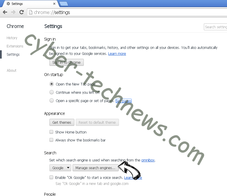 Search.heasymapsaccess2.com Chrome extensions disable