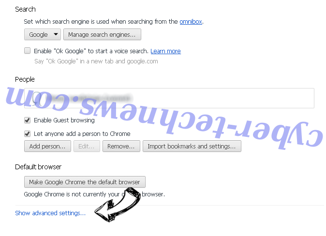 Search.heasymapsaccess2.com Chrome settings more