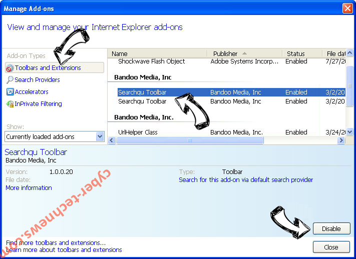 Search.eliaho.com IE toolbars and extensions