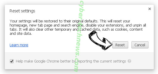 Search.mediatvtabsearch.com Chrome reset