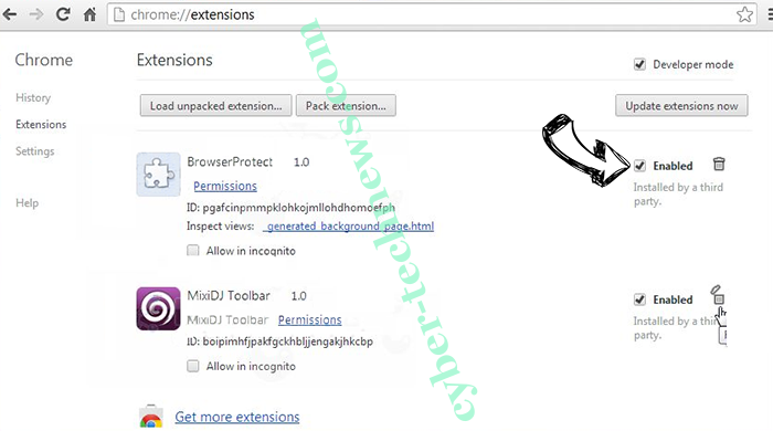lodder1.biz virus Chrome extensions disable