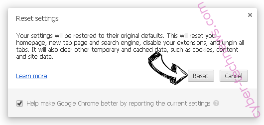 Search.dolanbaross.com Chrome reset