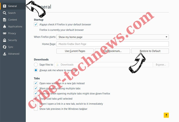 Microsoft Cleanup Virus Firefox reset confirm