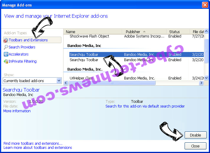 Microsoft Cleanup Virus IE toolbars and extensions