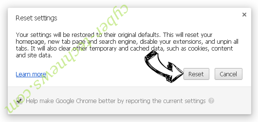 Y2Mate.com Virus Chrome reset