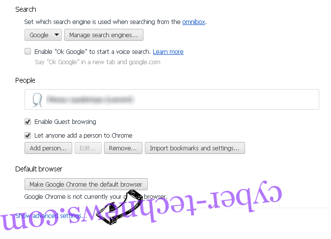 Geting.pro pop-up ads Chrome settings more