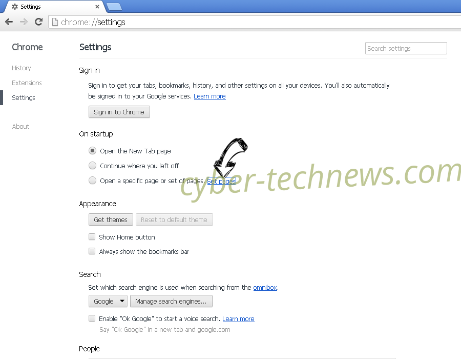 opdater google chrome