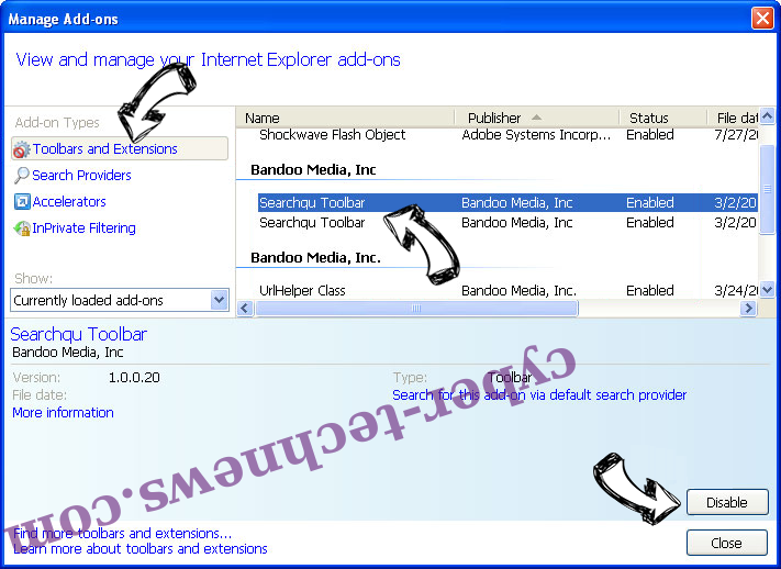 NameSync adware IE toolbars and extensions