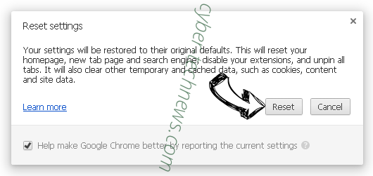 PDF Extra Search redirect Chrome reset