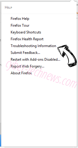 Overns.com virus Firefox troubleshooting
