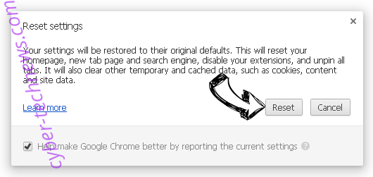 Searchitnow.info Chrome reset