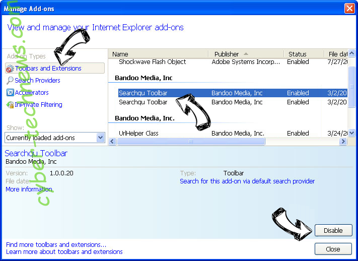 FastDataX Adware IE toolbars and extensions