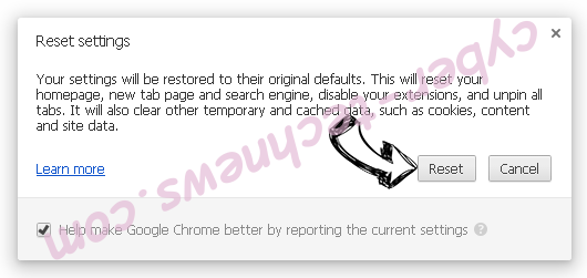 Searchwebprivate.co Chrome reset