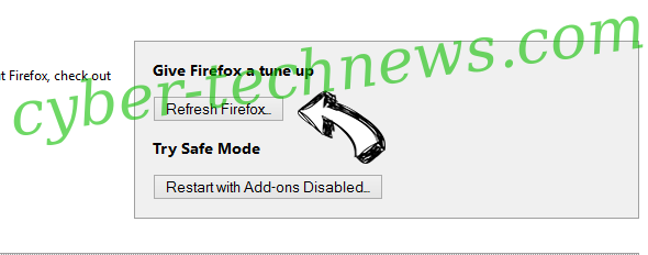 Searchwebprivate.co Firefox reset