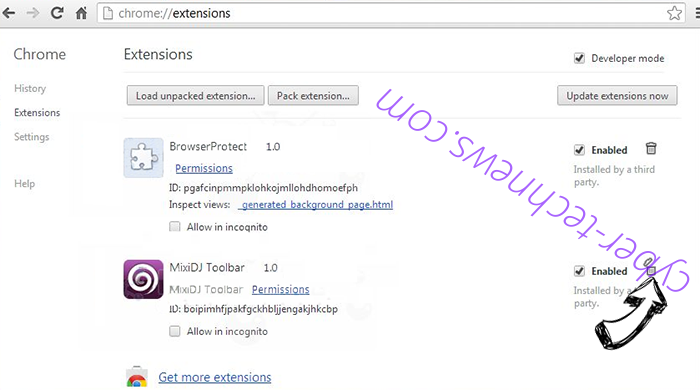 Log.trendingnow.video redirect virus Chrome extensions remove