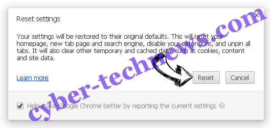 DirectionsOnline Search Redirects Chrome reset