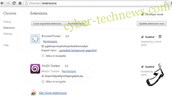 Regevpop virus Chrome extensions remove
