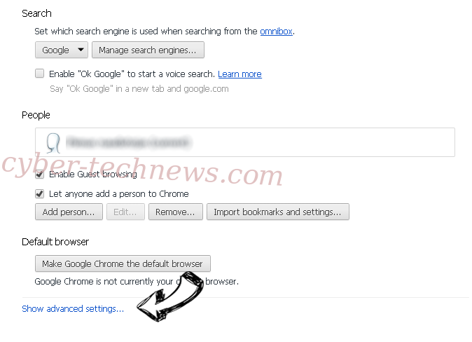 Get.thenewsnotifications.com Chrome settings more