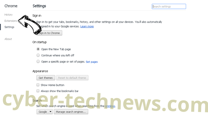 Get.thenewsnotifications.com Chrome settings
