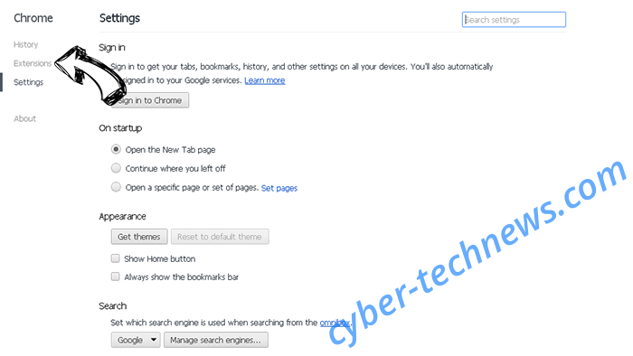 PortaldoSites.com Chrome settings