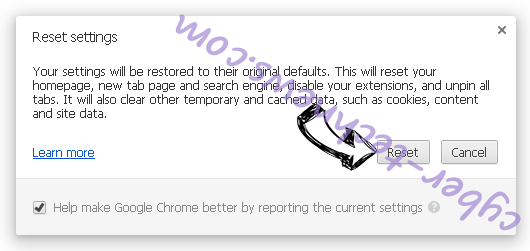 Search.freebibleverse.com Chrome reset
