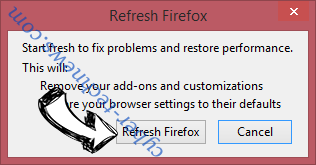 Search63.com Firefox reset confirm