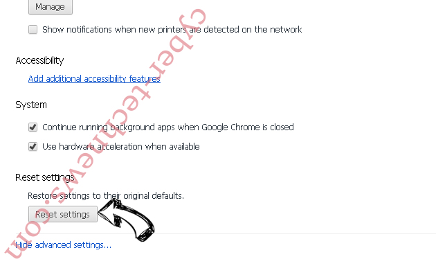 Search14.co Chrome advanced menu