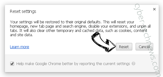 Apsearch.xyz redirect Chrome reset