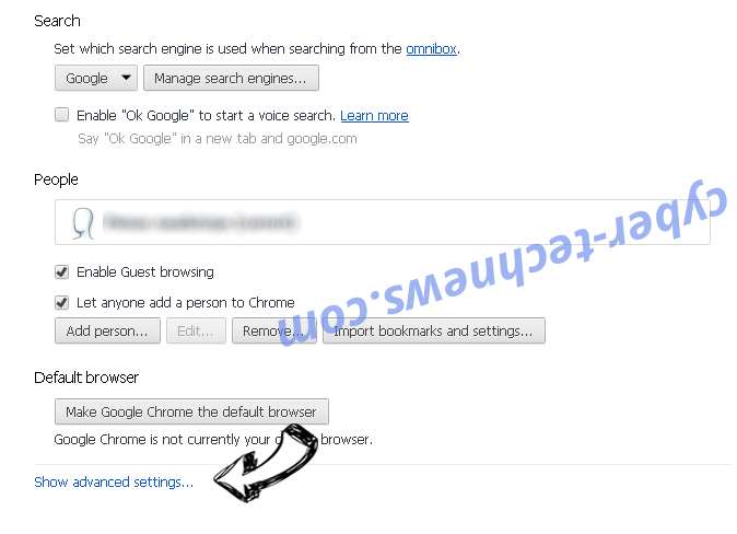 Apsearch.xyz redirect Chrome settings more