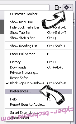 Search.hquickaudioconverterpro.com Safari menu