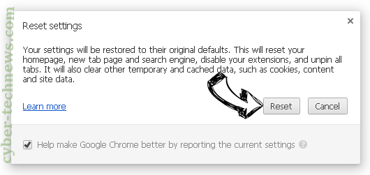 Searchitprivate.com Chrome reset