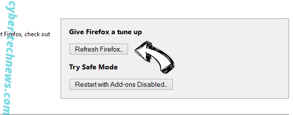 MSrch extension virus Firefox reset