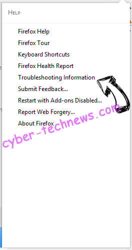 Searchou virus Firefox troubleshooting