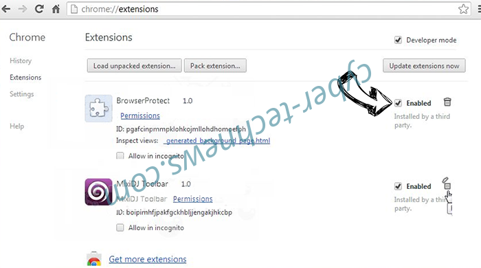 Vo Package Adware Chrome extensions disable