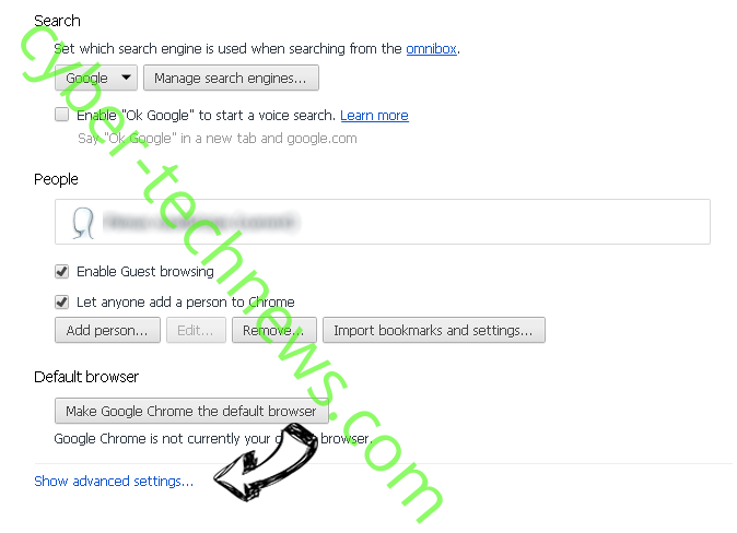 Greatene.com Chrome settings more
