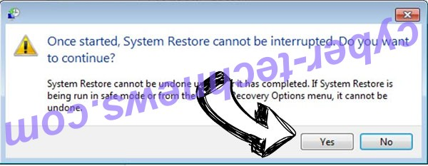PRISM virus removal - restore message