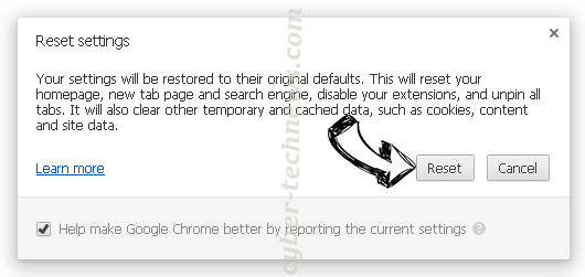 Letstosite.net Chrome reset