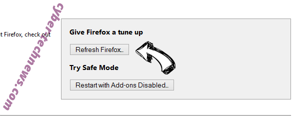 Search.zaztov.com Firefox reset