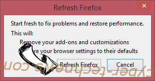 White Screen virus Firefox reset confirm